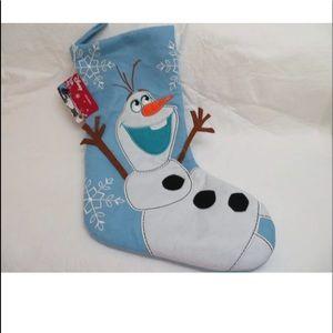 "Disney Frozen OLAF Christmas Stocking 18"" NWT"